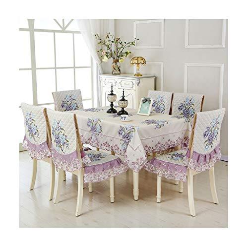 Liangzishop 6 Satz Removable Waschbar Kurz Dining Chair-Schutz-Abdeckung Sitzschonbezug for Esszimmer Wohnzimmer Küche Ceremony Bankett Hochzeitshotel (Color : B)