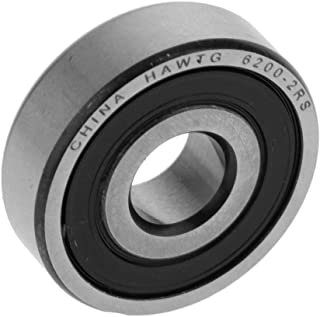 Baosity Deep Groove Ball Bearings Silver High Wear Resistance, can be Replaced in 2 Years - as described, 6200-2RS High Sp...