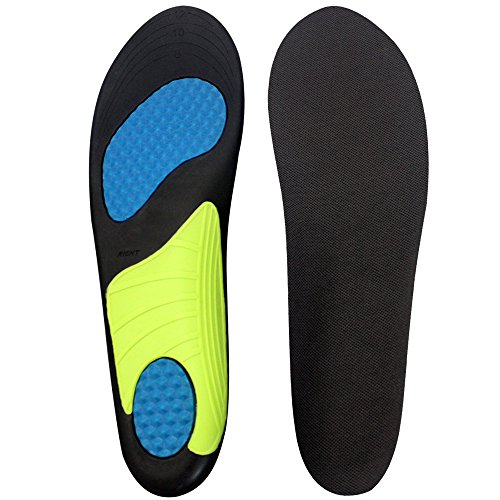 Suscong Athletic Arch Support Inserts Insoles for Men and Wowen Running Basketball Shoes,Sport/Work Boots (Women US 6-9/Men US 5-8)