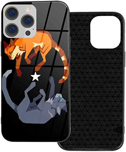 Can be Installed i-Phone 12 Tempered Glass Phone Case / 12 Pro / 12 Mini/MAX Shockproof Soft Case Fireheart and Bluestar Beautiful and Handsome