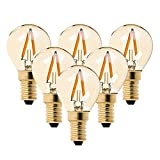 G40 LED Filament Mini Globe Ampoule 1 W – Ultra Blanc chaud 2200 K (Ambre Glow) –...