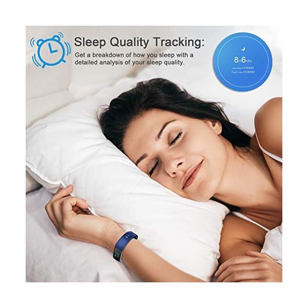 LETSCOM High End Fitness Trackers HR, IP68 Reloj de fitness impermeable con monitor de ritmo cardíaco, contador de pasos… 7