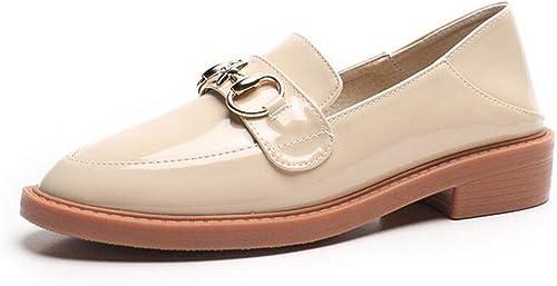 zapatos de cuero, zapatos individuales, zapatillas, zapatos casuales de mujer, zapatos planos cómodos antideslizantes, zapatos ligeros para conducir, zapatos livianos para viajar, zapatos sencillos, a