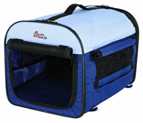 Trixie 39703 Mobile Kennel, S: 50 × 50 × 60 cm, dunkelblau/hellblau