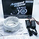 KIT AROS CCFL OJOS DE ANGEL 4x 106MM CANBUS SERIE 3 E46 ci FACELIFT (2004-06) CON PROYECTOR BLANCO 6000K KIT ANGEL EYES