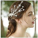 HONEY BEAR donna clip pettine per capelli,gioielli da sposa,accessori per capelli sposa,gioielli a forma di fiore con finte perle e strass (Stelle)