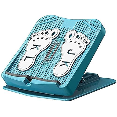 Lunchbox.com Camilla De Pantorrilla con Tabla Inclinada Portátil con Placa De Cordones Ajustable De 8 Niveles, Equipo De Estiramiento De Tabla Equilibrio del Pie De Pierna,Azul