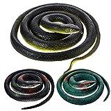 Serpientes de Goma Grandes Serpiente Falso Juguete de Serpiente Mamba...