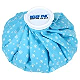 Relief Pak English-Style Ice Bag / Pack Cold Therapy to Reduce Swelling, Decrease Pain and Offer Cold Compression Relief from Bruises, Migraines, Aches, Swellings, Headaches and Fever, 11' Diameter