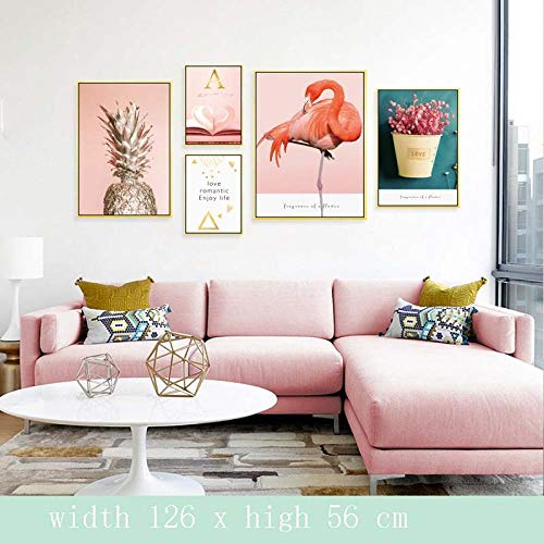 YFKSLAY Kleine frische Wandaufkleber schmücken den Raum Hintergrund Wand Schlafzimmer Bett umweltfreundliche Selbstklebende Tapete Wand-schöne Blumen_ 大