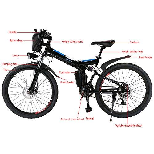 Yiilove 26'' Electric Bicycle Electric Mountain Bike for Adult