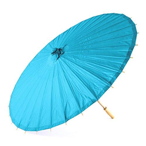 Style Classique papier Parasol en bleu avec poignée en bambou et à désosser