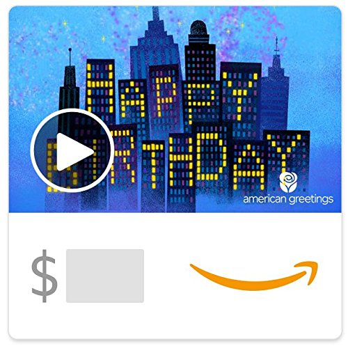 Amazon eGift Card - City Lights Birthday (Animated)) [American Greetings]