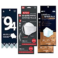 KF94 韓国製マスクVOL.1【お試しセット3種類5枚】C&S KF94 プレミアムマスク(2枚)+ ロハス KF94マスク(2枚)+ ソル KF94マスク(1枚)[全商品:白、個包装、4層フィルター、不織布、正規仕入れ品]
