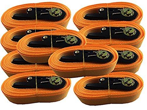iapyx 10x Spanngurt Zurrgurt mit Ratsche 5 Meter EN Norm Farbe: orange