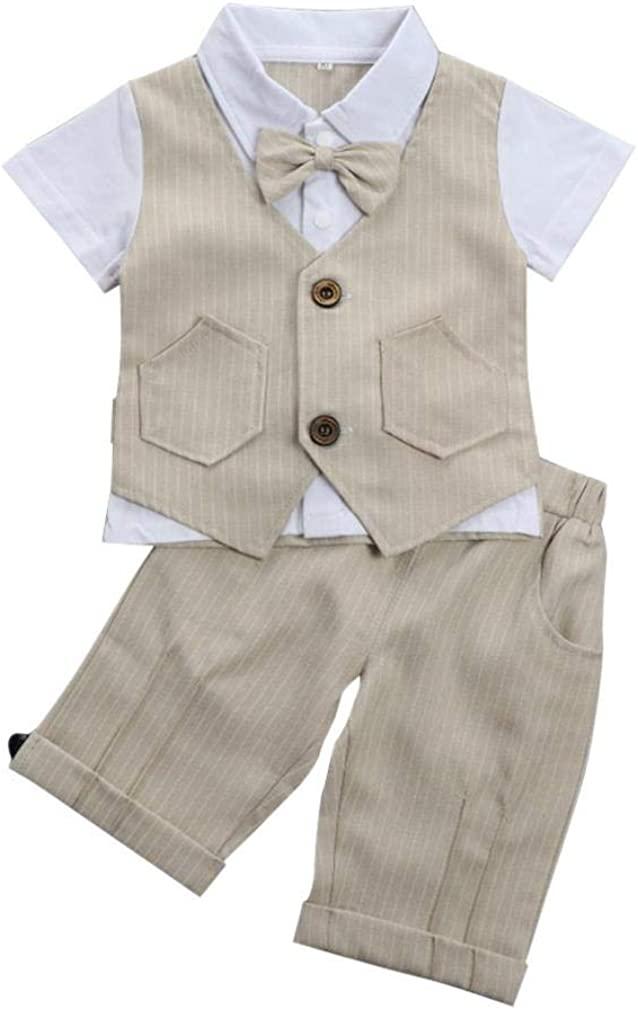Baby Boy Gentleman Outfit Short Sleeve Sales for sale Fake T-Shirt Vest Large discharge sale with