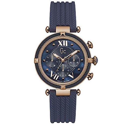 GC GC CABLECHIC Damen-Armbanduhr 38MM Armband SILIKON BLAU Batterie Y16005L7