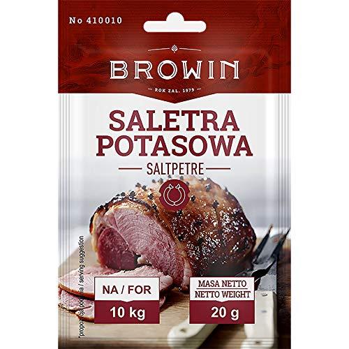 Nitrato di potassio 20g per 10 kg Carne - per Prosciutto, Jambon, Pancetta, Speck