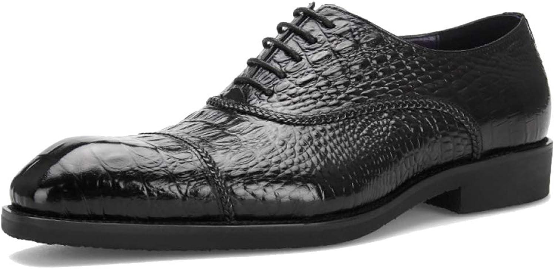 Män Formella klädskor Genuine läder Brogues Oxford Crocodile Pattens Lace Lace Lace Up  varm