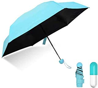 Travel Pocket Mini Umbrella Summer Sun Rain Protection Parasols Umbrellas