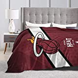 Tengyuntong Miami Basketball Sports Fleece Blanket Throw Size Lightweight Super Soft Cozy Warm H-Ea-T ?Luxury Fluffy Flannel Microfiber Nap Bed Blanket for Sofa Couch All Seasons
