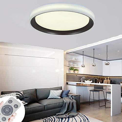BRIFO 60W LED Deckenleuchte Dimmbar, Modern Lampe Design, Deckenlampe für Flur, Küche, Wohnzimmer, Büro, Energie Sparen Licht, Dimmbar (3000-6500K) Mit Fernbedienung (TYP-C:60W)
