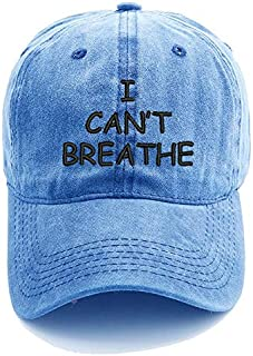 Embroidered Baseball Cap Washed Cotton Dad Hat Trucker Cap (Color : Light blue)