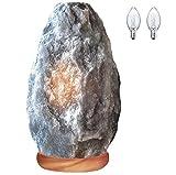 Himalayan Glow 1031 Grey Salt Lamp, 7 lbs, Gray Salt Lamp (5-7 Lbs)