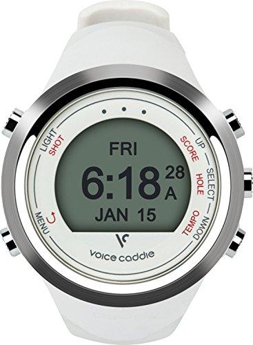 Voice Caddie T-1 Hybrid Golf Watch, White