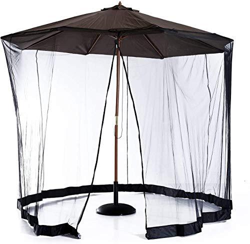 LYYJIAJU Neta al Aire Libre del Mosquito Jardín al Aire Libre Paraguas Red sombrillas y mesas con Cremallera de la Puerta del Acoplamiento