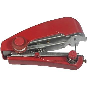 ROSENICE Mini Máquina de Coser Manual de Mano portátil sin Cuerda Mini de la máquina de Coser para la Costura: Amazon.es: Hogar