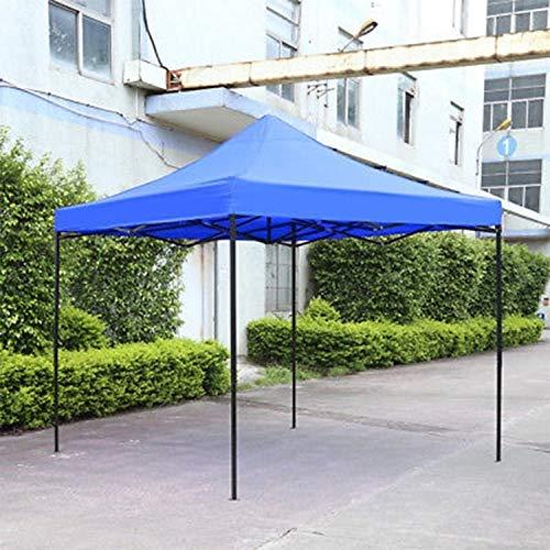Waterproof tent shade pop-up garden tent gazebo canopy outdoor tent market shade 3mx3m jianmeili (Color : Blue)