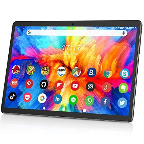 10.1インチタブレット32GB ROM 128GB拡張 Wi-Fiモデル 3G SIM Android 9.0 4コアCPU 1280x800 IPSタッチスクリーンタブレットHD 大容量 6000mAh Bluetooth 4.0 GPS 日本語仕様書付き (SIMカードなし)