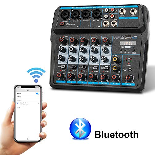 Why Choose 6 Channels Professional Audio Mini Mixer Sound Board Console Desk System,Audio Mixers Blu...