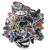 GSNY Zapatillas de Deporte de la Marca Tide, Pegatinas Personalizadas, Pegatinas de Equipaje Impermeables para Maletas, Pegatinas de decoración de monopatín de Coche de Equilibrio de Grafiti 100