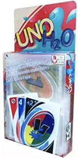 UNO H2O Card Game,Waterproof Clear PVC Perfect Family Playing Card Game