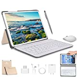 4G Tablette Tactile 10 Pouces WiFi 4GO RAM 64GO/128Go ROM Quad Core Tablette Android 9 avec Stylet Tactile OTG et Google Play 5MP+8MP Caméra Dual Carte SIM Tablette PC Portable Pas Cher(Or)