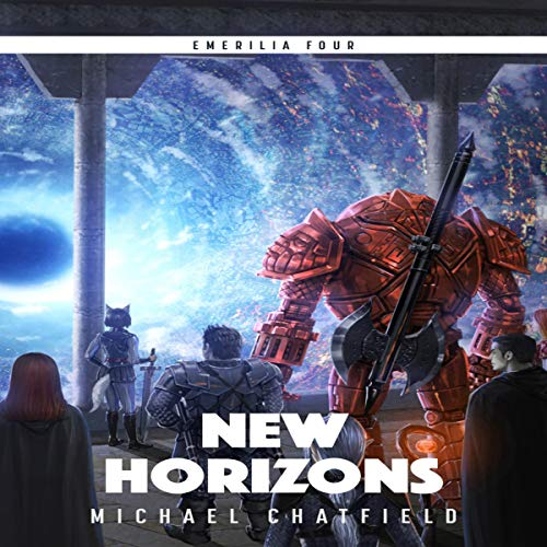 New Horizons     Emerilia, Book 4              By:                                                                                                                                 Michael Chatfield                               Narrated by:                                                                                                                                 Tristan Morris                      Length: 10 hrs and 31 mins     1,053 ratings     Overall 4.8