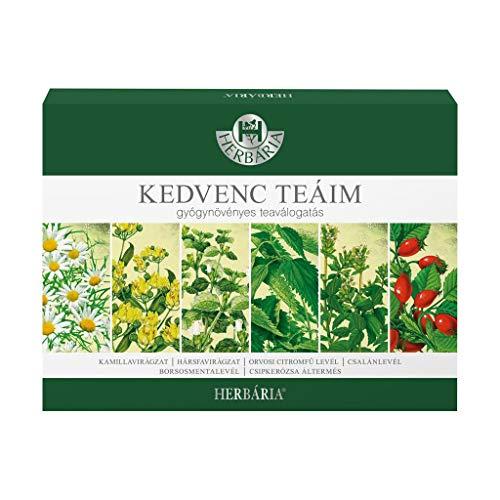 Herbaria Natural Herbal Tea Premium Selection Box 6 Types