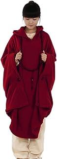 KATUO Meditation Buddhist Hooded Cloak Coat Women Men Outfit Oversize Coat
