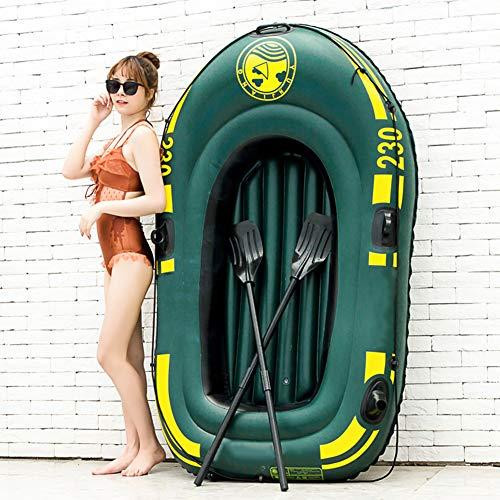 WN-PZF Kayak Hinchables,Barcas De Pesca Recreativa,Piragua Engrosado para 2 Personas con Múltiples Bolsas De Aire,Equipado con Tabla De Remo Mejorada/Bomba De Aire Manual/Cuerda De Remolque