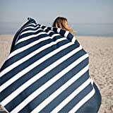 SummerSand Toalla de Playa Gigante de Microfibra 180x160cm - Toalla de Baño sin Arena y de Secado rápido - Toalla de Playa Grande XXL Piscina o como Manta de Picnic - Deep Blue
