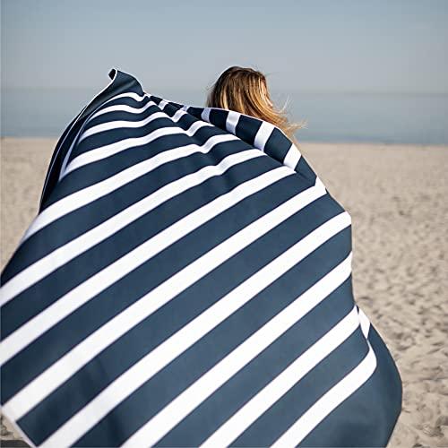 SummerSand Telo mare microfibra grande da 180 x 160 cm - Asciugamano mare Antisabbia e ad Asciugatura Rapida - Telo da spiaggia XXL - Perfetto per la piscina o come coperta da picnic - Deep Blue
