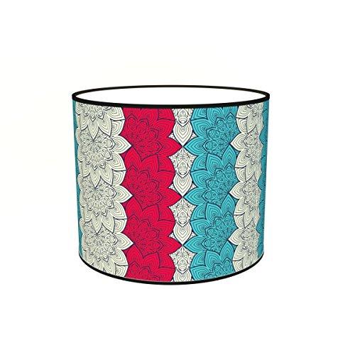 Abat-jours 7111301379146 Imprimé Eleo Lampadaire, Tissus/PVC, Multicolore