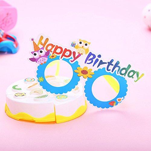 FairOnly 12 Stück lustige Cartoon-Papierbrillen für Kinder, Geschenk für Fotoautomaten, Requisiten, Halloween, Weihnachten, Party-Dekoration für Kinder Birthday