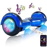 Hoverboard-Hoverboard para Niños, Hoverboards Autoequilibrantes de Dos Ruedas de 6.5 'con Bluetooth y Luces para Adultos, Hoverboard con Certificación UL 2272 para Niños de 6 a 12 Años (Azul)