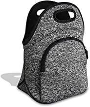 Lunch Bag Tote, Neoprene Insulated Thermal Washable Meal Prep Bag Adjustable Shoulder Strap Front Zipped Pocket Bag