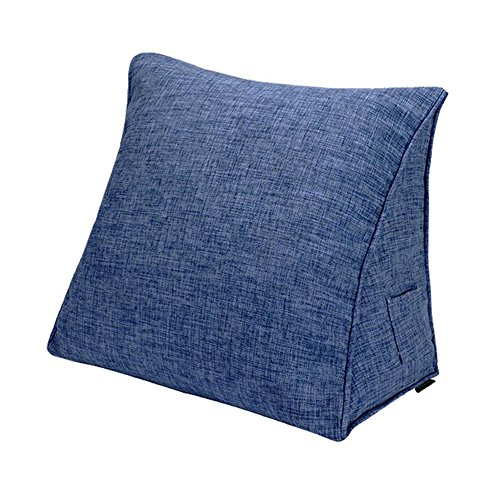 Almohada CJC Respaldo Funda Textiles Apoyo Lumbar Cuello Pierna Espalda Cuña Amortiguar Descanso Leyendo Sólido Color (Color : T12, Tamaño : 60x50x25cm)