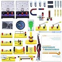 Teenii CTIM Laboratorio de Física Kit de Aprendizaje Básico de Circuitos Experimento de Electricidad y Magnetismo para niños Alumnos de Secundaria y Bachillerato Electromagnetismo