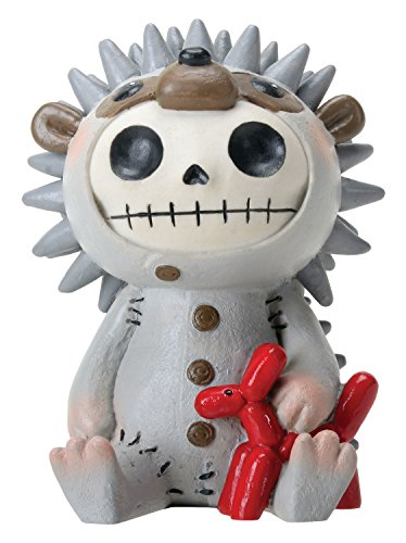 SUMMIT COLLECTION Furrybones Hedrick Signature Skeleton in Hedgehog Costume with Red Balloon Animal